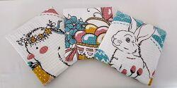 Набор красивых пасхальных полотенец из хлопка