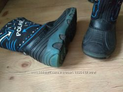 Сапоги сапожки резиновые и осенние 2 вида, ботинки на липучках 25-26 р