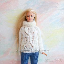 Белый свитер для Барби