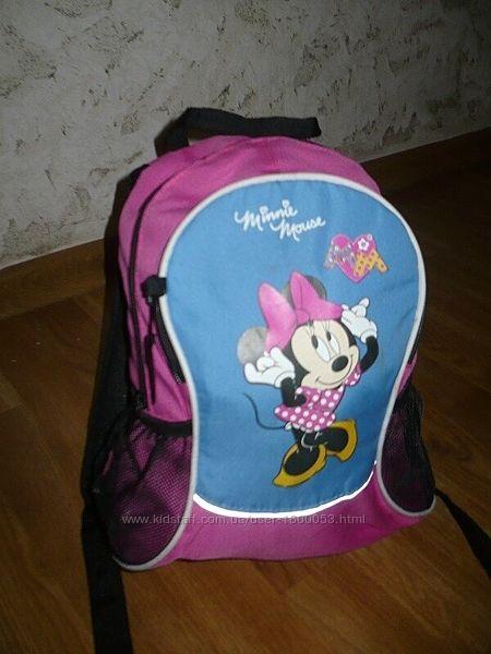 Рюкзак Минни Маус розовый для девочки В отличном состоянии
