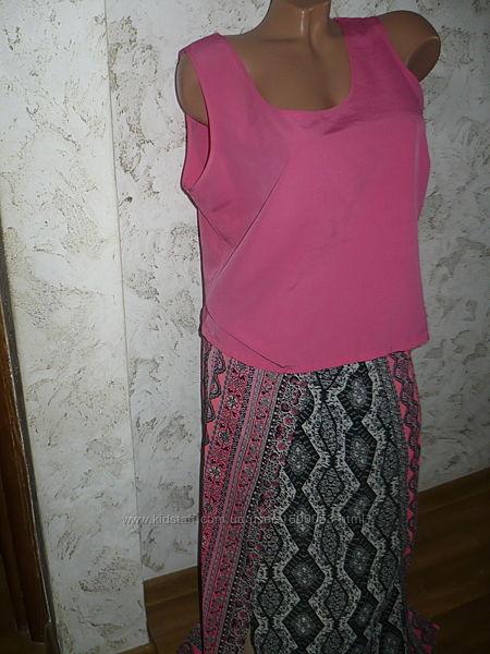 Юбка летняя и блуза костюмом продам М 46р.