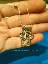 Серебряный подвес из коллекции Федоровских крестов с позолотой