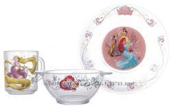 Посуд принцеси. Закалене скло. в наявності