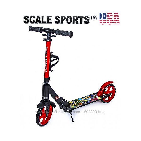 Самокат Scale Sports Elite SS-15 красный  Led фонарик