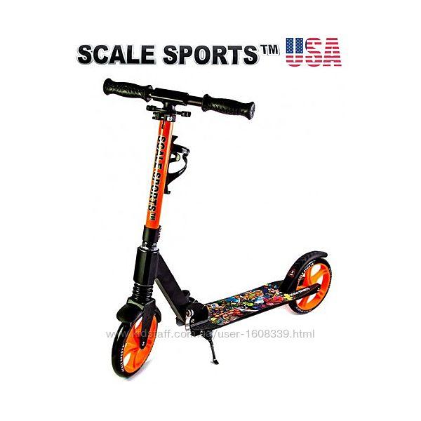 Самокат Scale Sports Elite SS-15 Оранжевый  Led фонарик