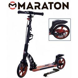 Городской самокат Maraton Dynamic Disc 2021 оранжевый  Led фонарик