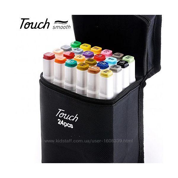 Набор двухсторонних маркеров Touchfive 24 шт в кейсе для скетчинга