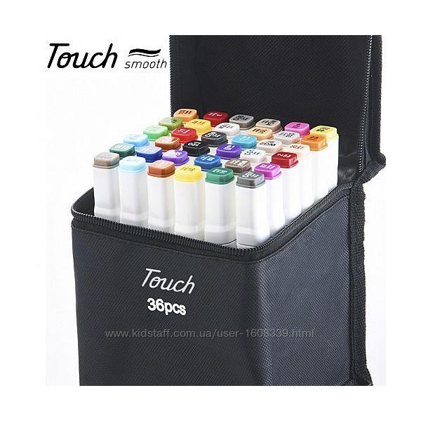 Набор двухсторонних маркеров Touchfive 36 шт в кейсе для скетчинга