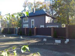 Новый 2 эт. дом 185м, гараж, сауна, 6 сот. лесная Буча