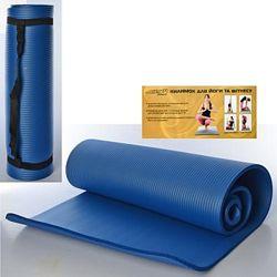 Коврик 10мм для йоги и фитнеса и туризма NBR Yoga Mat йогамат каремат