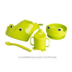 ИКЕА МАТА Набор посуды, 4 предм, зеленый