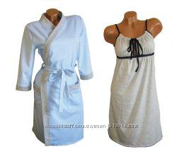 Набор теплый халат и ночная рубашка