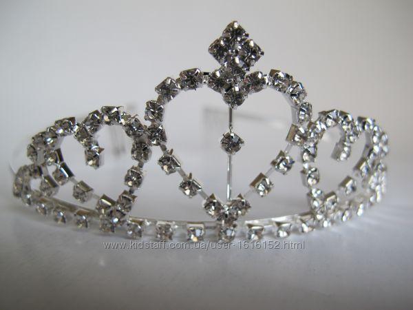Корона Диадема Тиара Для Девочки На Утренник Выпускной. Корона Для Снежинки
