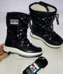 Дутики теплые том. м tom. m черные зимние сапоги сапожки ботинки угги
