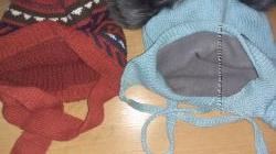 шапочки зима 7-9лет