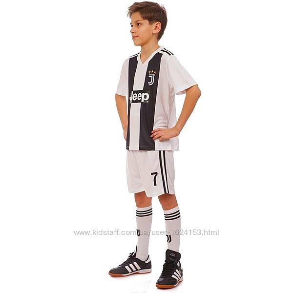 Футбольная форма детская Ювентус Рональдо 7 рост 140 см 150 см 158 см