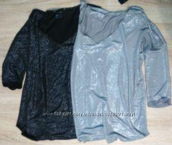 Блуза с блеском фирма esmara ml черная серая