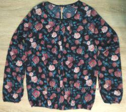 Блуза в цветочек темно синяя esmara