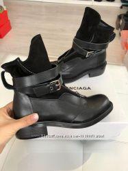 Женские ботинки из натуральной кожи, брендовая  обувь
