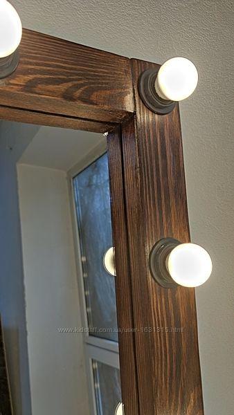 Зеркало с подсветкой в полный рост, лампы в комплекте