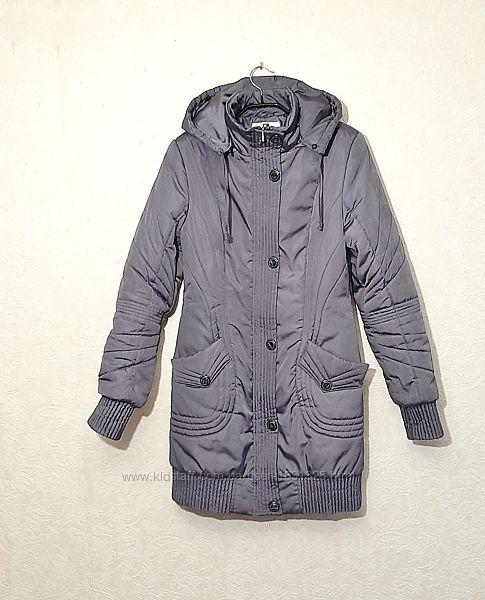 Куртка полу-пальто с капюшоном женская зима-весна сиреневая 44-46 FREEWIL