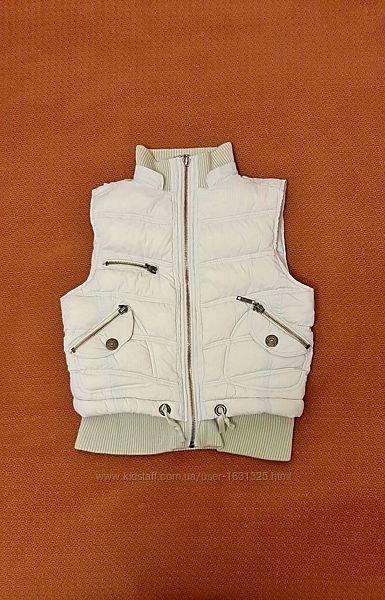 Тёплая жилетка дутик синтепон женская бренд Yes or No р46-48 серая Италия