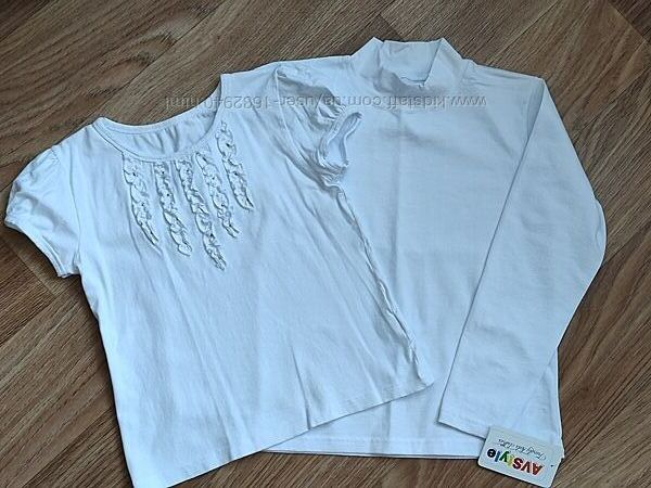 Гольф и блуза для девочек Valeri-tex белый 140 р.