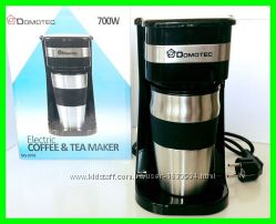 Кофеварка DOMOTEC MC0709 700W металлическая термокружка