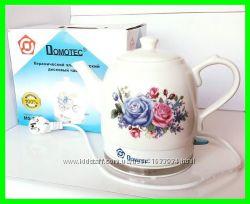 Электро чайник керамика MS5052 и стекло с лед постветкой DOMOTEC MS8210