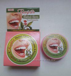 Натуральная твердая отбеливающая зубная паста с маслом гвоздики