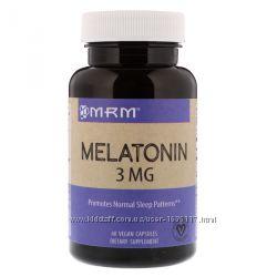 Мелатонин, 3 мг, 60 капсул, с Iherb, MRM, США