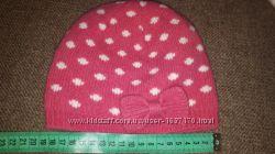 Шерстяная шапочка для девочки на 3-9мес.