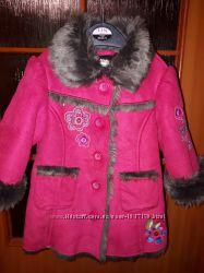 Очень красивое демисезонное пальто для девочки на 1-2года Marks&Spenser