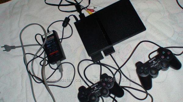 Sony PlayStation2 ps2 c играми на флеш-игровая приставка прошитая  рабочая
