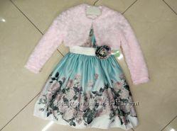 Красивая кофточка болеро для девочки рост 68 - 134 на праздничное платье