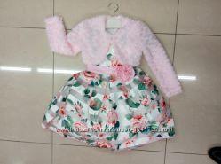 Красивое болеро меховое розовое тёплое кофта на праздничное нарядное платье