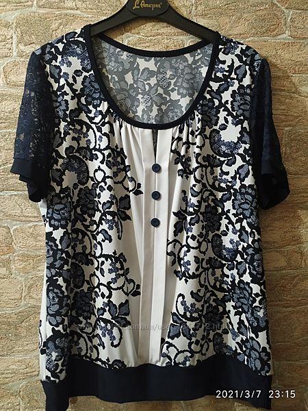Женская летняя блузка 50 размера