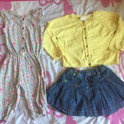 Пакет одежды от 0 до 12 месяцев б/у