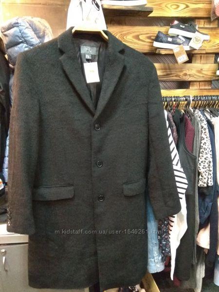 Мужское шерстяное  пальто бренд  H&M р. 48