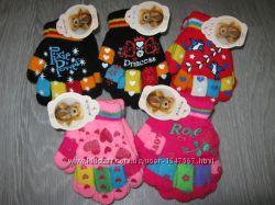 Распродажа Перчатки двойные AURA для девочек, размеры 4-6, 7-9 лет