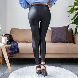 Акция Леггинсы под кожу модные пикантные тонкие черные бордовые женские