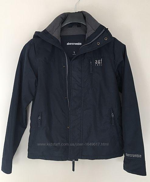 Куртка-ветровка утеплён Abercrombie A&F  мальчуковая 14-16 лет  тёмно-синяя