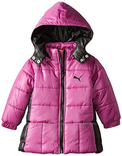Теплая удлиненная куртка с капюшоном на флисе еврозима Размер 6-7Т PUMA