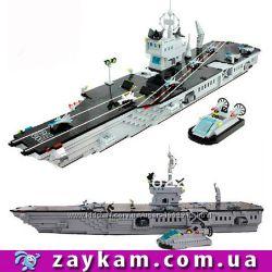 Конструктор корабль Авианосец 990 деталей Brick брик Enlighten 113