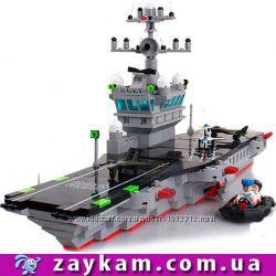 Конструктор корабль Авианосец 508 деталей Brick брик Enlighten 826