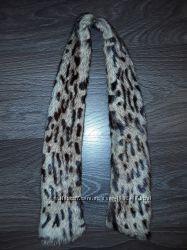Воротник мех леопардовый