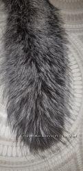Воротник  мех чернобурка  большой