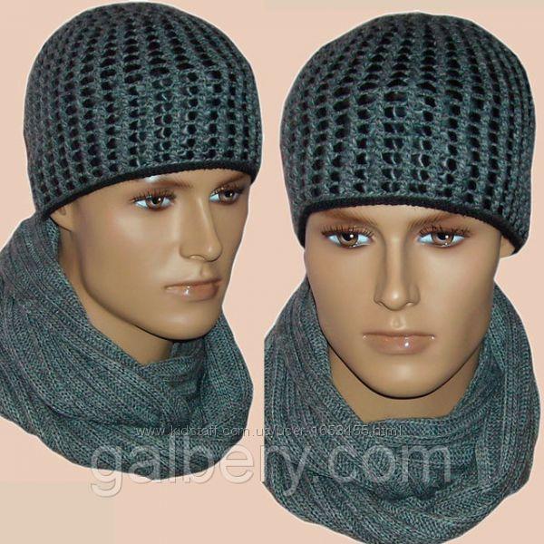 Зимняя шапка ручной работыЗимняя шапка Вязаная кожа и снуд