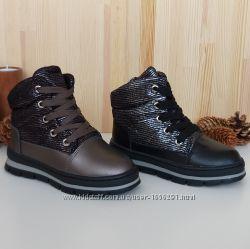 Зимние ботинки для девочек Clibee. Цвета Gun и BlackSilver. Размеры 27-32