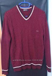 Бордовый мужской свитер, Cottre Турция, р. 52